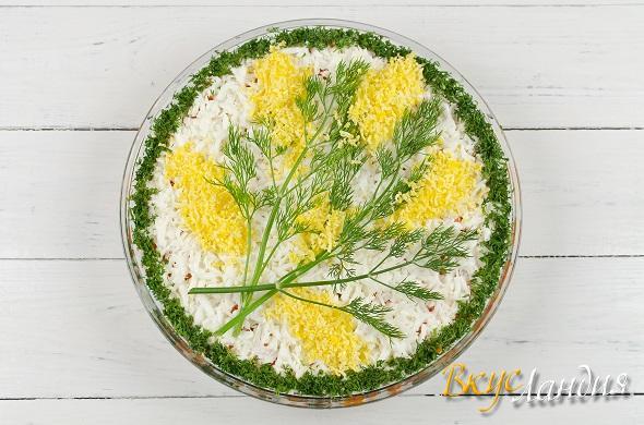 Салат мимоза с картошкой и сыром с фото